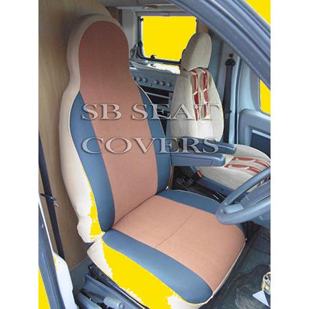 Motorhome Seat Cover Grey Beaded Rossini